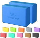 Wacces 2 Pack Exercise Fitness Yoga Block Set Eco Friendly