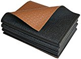 Khataland YoFoMat® – Best Foldable Yoga & Pilates Mat – Dual Color Black & Coffee, Extra Long 72″, Extra Wide 26″, Ultra Thick 1/4″ – Folding to 13″x10″x4″, Eco Friendly, Free From Phthalates/Latex