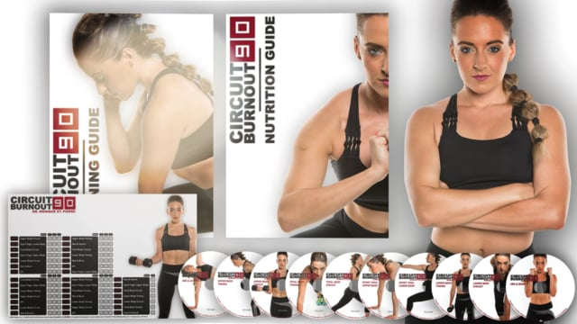 CIRCUIT BURNOUT 90: 90 Day DVD Workout Program with 10+1 Exercise Videos + Training Calendar, Fitness Tracker &Training Guide and Nutrition Plan